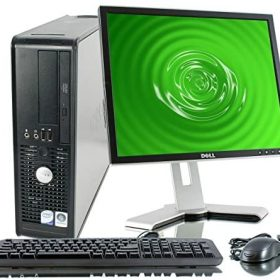Dell OptiPlex Desktop Complete Computer Package with Windows 10 Home – Keyboard, Mouse, 17″ LCD Monitor(brands may vary) (Renewed)