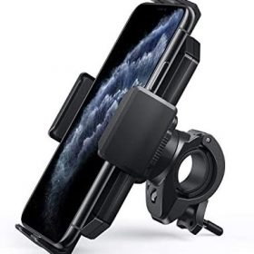 AUKEY Bike Phone Mount Anti Shake 360 Rotation Bicycle Motorcycle Phone Mount for Handlebar Bike Accessories Compatible with iPhone 11 Pro Max/11/XS/8, Samsung Galaxy S10+,and More