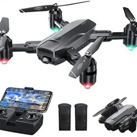 Dragon Touch DF01 Foldable Drone with Camera for Adults, WiFi FPV Drone with 120° Wide-Angle 1080P HD Camera RC Quadcopter with Gravity Sensor, Altitude Hold, Headless Mode, One Key Take Off/Landing