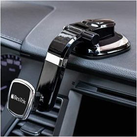 BESTRIX Phone Holder for Car, Magnetic Car Phone Mount   Dashboard Car Phone Holder Compatible with iPhone 11Pro,Xr,Xs,XS MAX,XR,X,8,8Plus,7,7Plus,6,6Plus,Galaxy Note S8 S9 S10 & All Smartphones