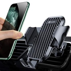 Andobil Car Phone Mount Ultimate Smartphone Car Air Vent Holder Easy Clamp Cradle Hands-Free Compatible with iPhone 11/11 Pro/11 Pro Max/8 Plus/8/X/XR/XS/SE Samsung Galaxy S20/S20+/S10/S9/Note 20/10