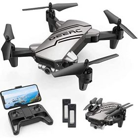 DEERC D20 Mini Drone for Kids with 720P HD FPV Camera Remote Control Toys Gifts for Boys Girls with Altitude Hold, Headless Mode, One Key Start Speed Adjustment, 3D Flips 2 Batteries
