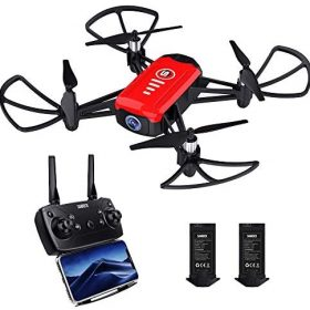 SANROCK H818 Drone for Kids, Mini Quadcopter with 720P HD Real-time Camera, Support Altitude Hold, Route Mode, Gesture Control, Headless Mode, One Key Take Off/Landing, Great Gifts for Boys Girls