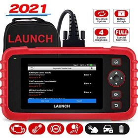 LAUNCH Scanner CRP123X Elite OBD2 Scanner,Check Engine Code Reader ABS SRS Airbag Transmission Scan Tool, Battery Test, Auto VIN One-Click Wi-Fi Lifetime Free Update, Android 7.0, Full OBD2 Functions
