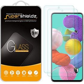 (2 Pack) Supershieldz Designed for Samsung Galaxy A52 / A52 5G / A51 / A51 5G / A51 5G UW Tempered Glass Screen Protector, Anti Scratch, Bubble Free