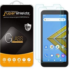 (2 Pack) Supershieldz Designed for AT&T Radiant Core and Cricket Icon Tempered Glass Screen Protector, Anti Scratch, Bubble Free