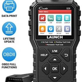 LAUNCH CR529 OBD2 Scanner 2021 Elite Code Reader Turn Off Check Engine Light Full OBDII Functions O2 sensors, I/M Readiness DTC Lookup Pass Emission Test Live Data Graph Lifetime Free Update Scan Tool