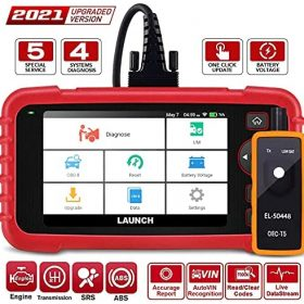 LAUNCH CRP129X Elite OBD2 Scanner,2021 New Scan Tool Car Code Reader for Engine Transmission ABS SRS with Oil/EPB/SAS/TPMS/Throttle Body Reset Automotive Scanner with TPMS Gift, Lifetime Free Update